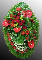 Венки из живых цветов №6