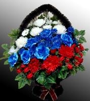 Ритуальная корзина из искусственных цветов №7