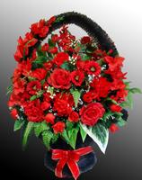 Ритуальная корзина из искусственных цветов №8