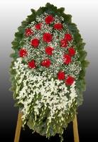 Венок на похороны из живых цветов №1