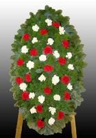 Ритуальный венок из живых цветов №10