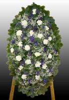 Ритуальный венок из живых цветов №11