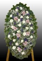 Ритуальный венок из живых цветов №12