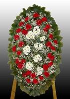 Венок на похороны из живых цветов №4