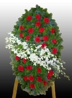 Венок на похороны из живых цветов №6