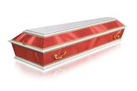 Гроб Комбинированный ФК-4Б-красный.