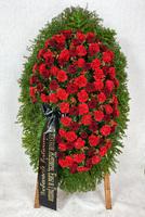 Венок из живых цветов №88