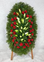 Венок на похороны из живых цветов №5