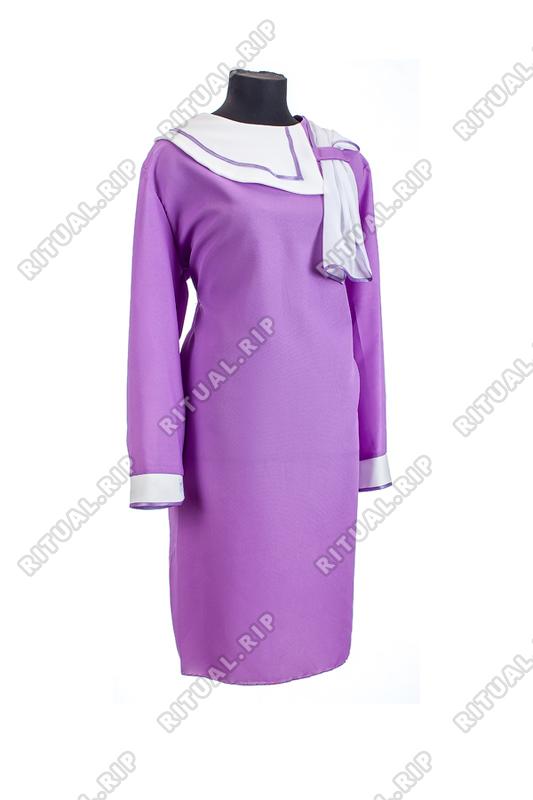 Комплект ритуальной женской одежды «Нежность» сиреневого цвета