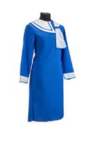 Комплект ритуальной женской одежды «Нежность» синего цвета