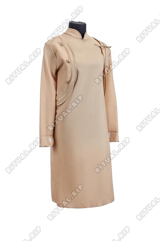 Комплект ритуальной женской одежды «Болеро» песочного цвета