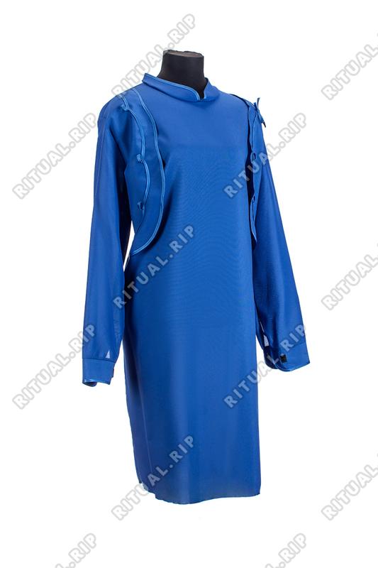Комплект ритуальной женской одежды «Болеро» синего цвета