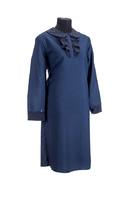 """Комплект ритуальной женской одежды """"Акцент"""" темно-синего цвета"""
