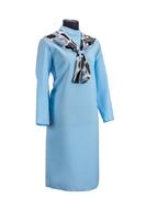 Комплект ритуальной женской одежды «Шифоновый шарф» бирюзового цвета