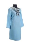 Комплект ритуальной женской одежды «Кокилье» бирюзового цвета