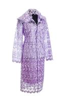 """Ритуальный Комплект женской одежды для похорон """"Элитный"""" с кружевом сиреневого цвета"""