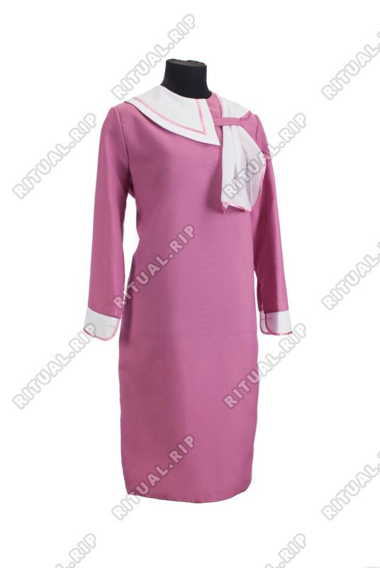 Комплект ритуальной женской одежды «Нежность» брусничного цвета