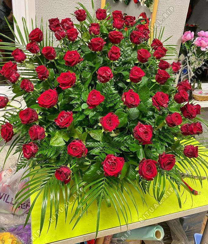 Корзина из живых цветов №01Н
