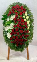 Венок из живых цветов №3Н