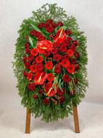 Венок из живых цветов №5Н