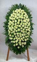 Венок из живых цветов №4Н