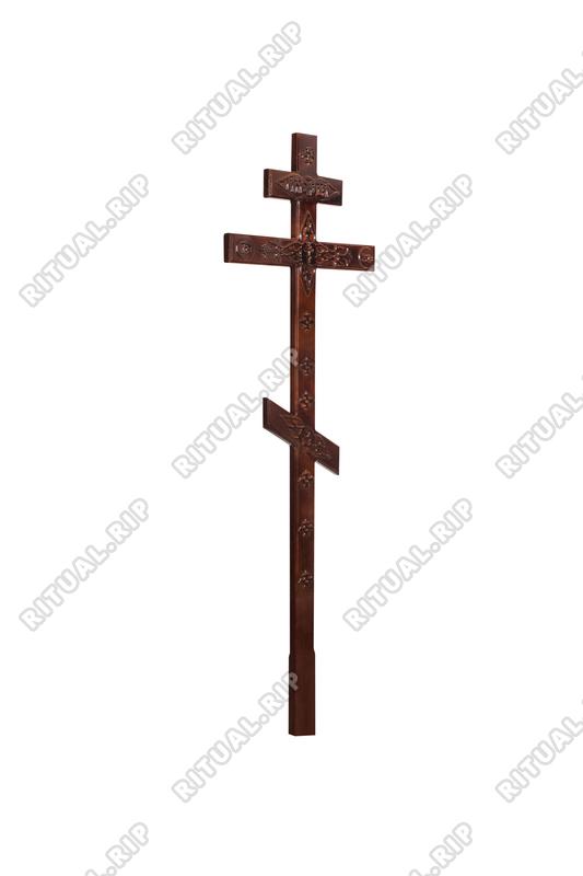 Крест на могилу КДС-05Т С декором