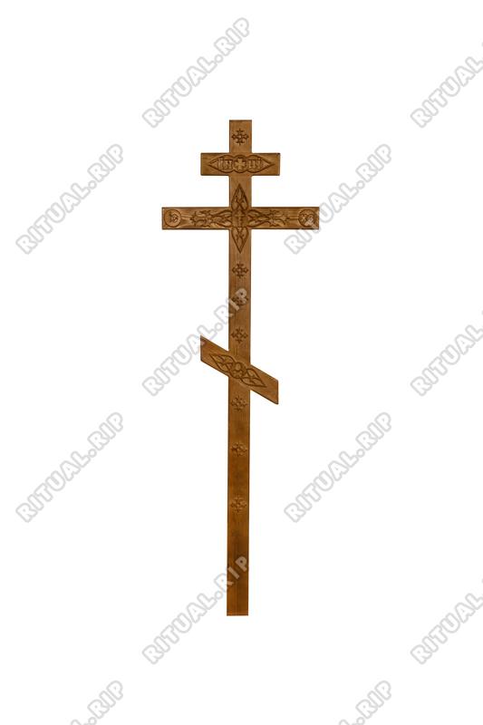 Крест на могилу КДС-06 С декором (состаренный)