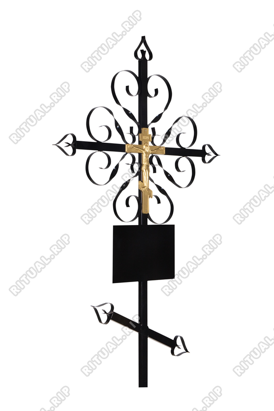 Крест на могилу Завитушка