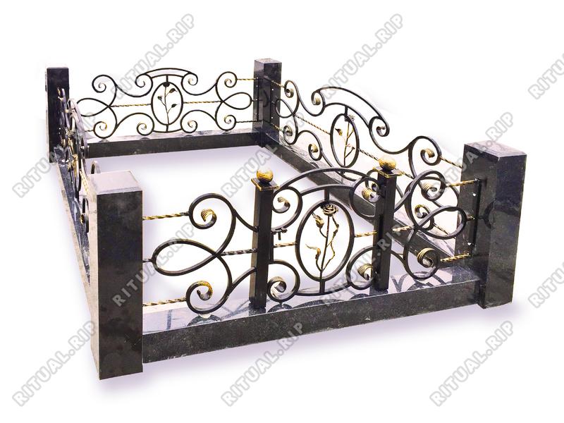 Гранитная ограда Венеция 1.8*2.0 м.
