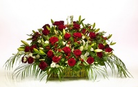 Корзина из живых цветов №04А