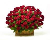 Корзина из живых цветов №02А