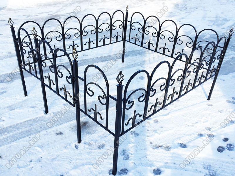 Кованая ограда на могилу Арка