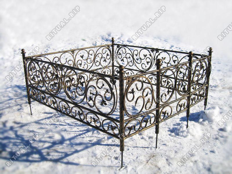 Кованая ограда на могилу Элегия2