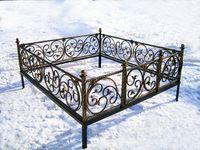 Кованая ограда на могилу Элегия