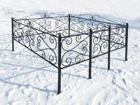 Кованая ограда на могилу Этюд