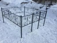 Кованая ограда на могилу Капля