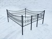 Кованая ограда на могилу Кольцо