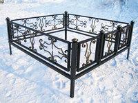 Кованая ограда на могилу Корсар