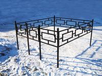 Кованая ограда на могилу Квадрат