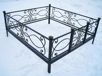 Кованая ограда на могилу Ладога