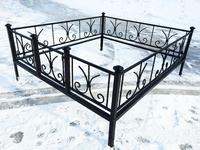 Кованая ограда на могилу Лилия