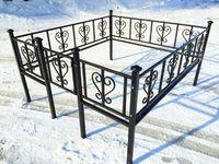 Кованая ограда на могилу Лира