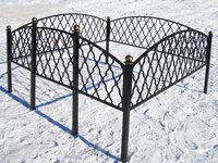 Кованая ограда на могилу Монастырская вязь