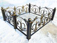 Кованая ограда на могилу Ода