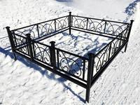 Кованая ограда на могилу Овен