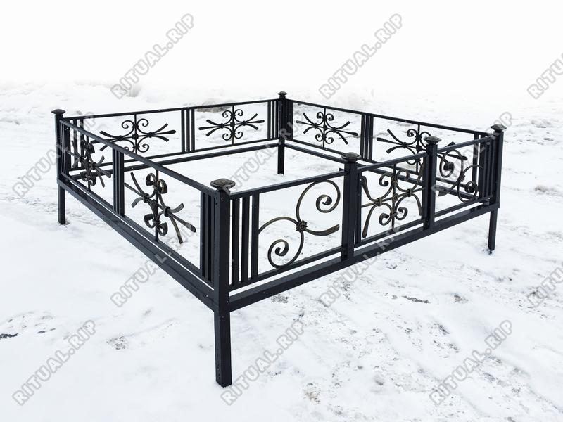 Кованая ограда на могилу Пантеон