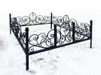 Кованая ограда на могилу Роза-элит