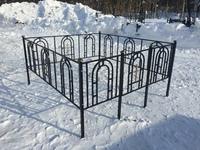 Кованая ограда на могилу София