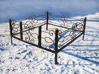 Кованая ограда на могилу Соната
