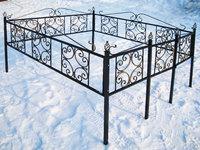Кованая ограда на могилу Верба